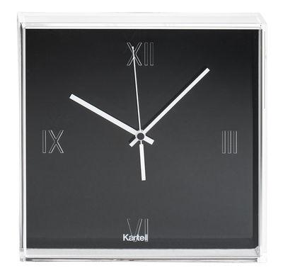 Déco - Horloges  - Horloge murale Tic & Tac / à poser ou suspendre - Kartell - Noir /  Aiguilles blanches - ABS, PMMA