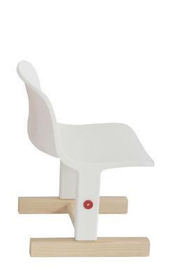 Möbel - Möbel für Kinder - Little big Kinderstuhl / höhenverstellbar - Magis Collection Me Too - Weiß / holzfarben - Esche massiv, Polypropylen