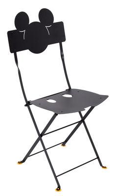 Möbel - Stühle  - Bistro Mickey Klappstuhl / Metall - Fermob - Lakritze - lackierter Stahl