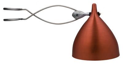 Illuminazione - Lampade da tavolo - Lampada a pinza Cornette - versione tinta unita di Tsé-Tsé - Rosso - Alluminio anodizzato dipinto