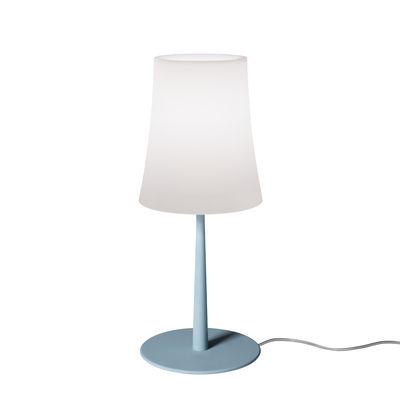 Image of Lampada da tavolo Birdie Easy Small - / H 43 cm di Foscarini - Blu - Materiale plastico