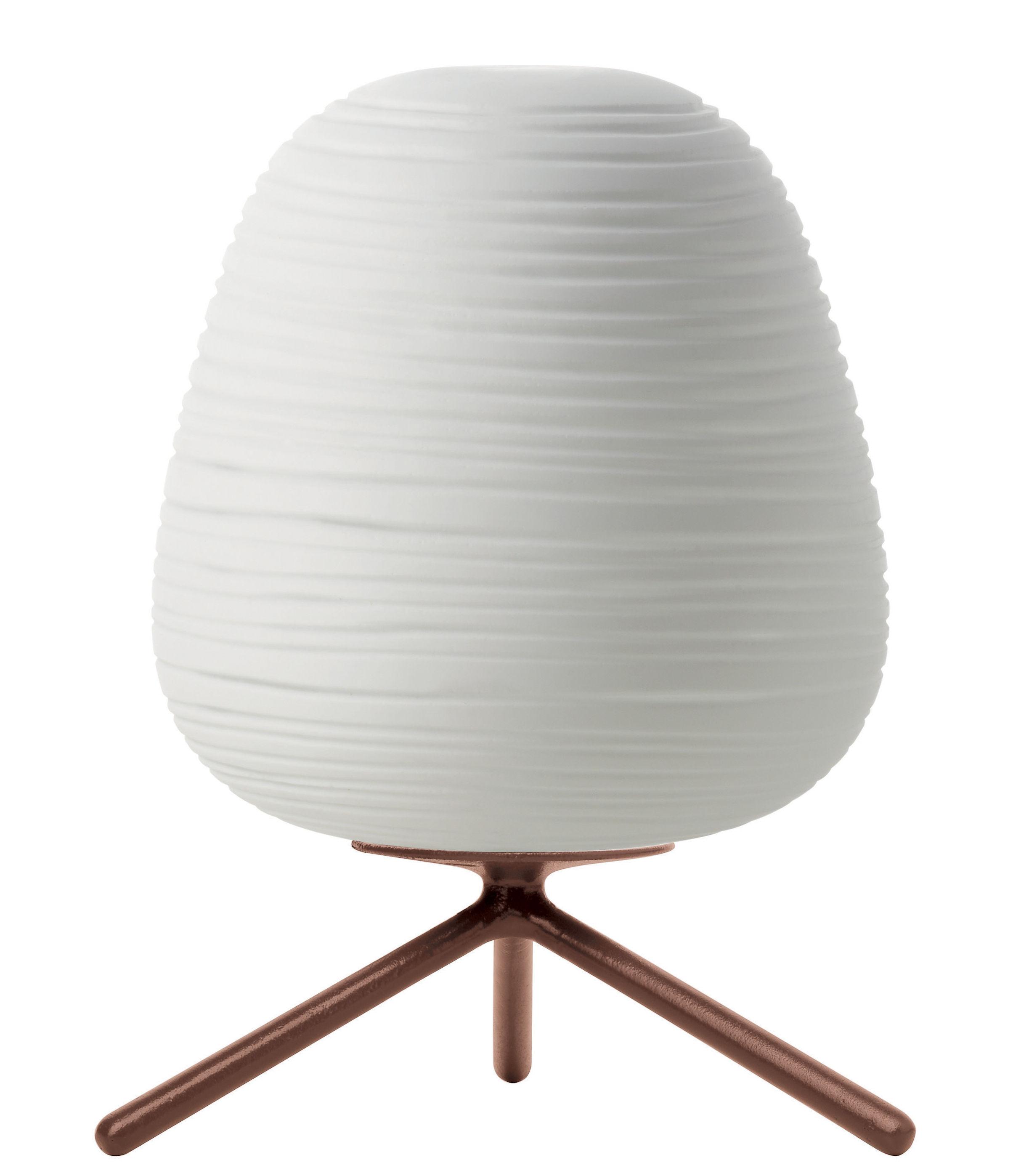 Luminaire - Lampes de table - Lampe de table Rituals 3 / Ø 20 x H 27 cm - Foscarini - Variateur / Blanc - Verre soufflé bouche