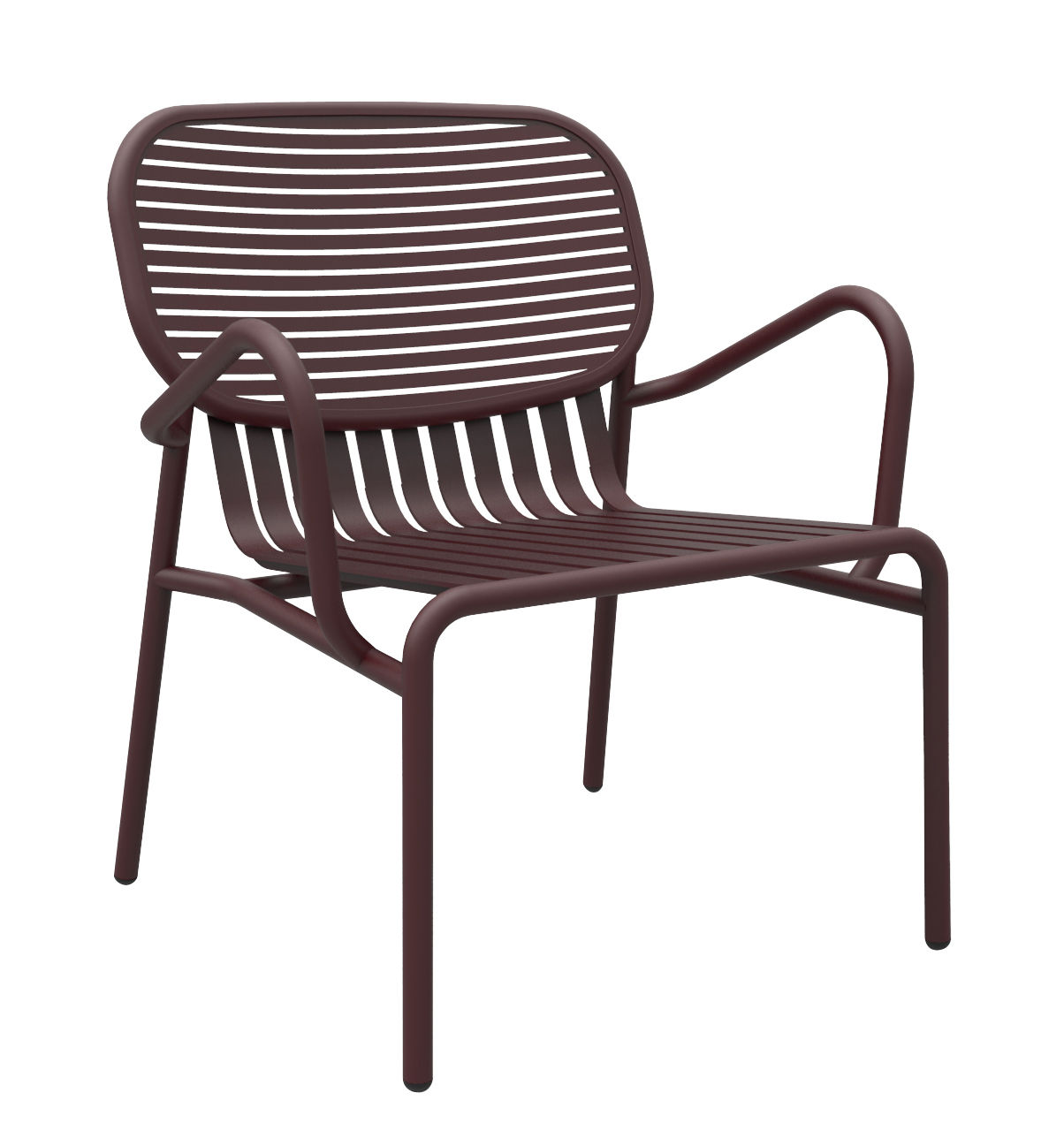 Furniture - Armchairs - Week-end Low armchair - Aluminium by Petite Friture - Burgundy - Powder coated epoxy aluminium