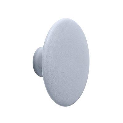 Mobilier - Portemanteaux, patères & portants - Patère The Dots Ceramic / Medium - Ø 13 - Muuto - Bleu ciel - Faïence émaillée