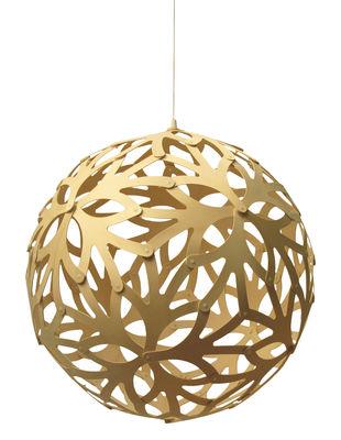 Leuchten - Pendelleuchten - Floral Pendelleuchte Ø 40 cm - Naturholz - David Trubridge - Ø 40 cm - Naturholz - Bambus