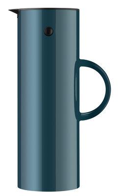 Pichet isotherme Classic / 1 L - Stelton bleu pétrole en matière plastique