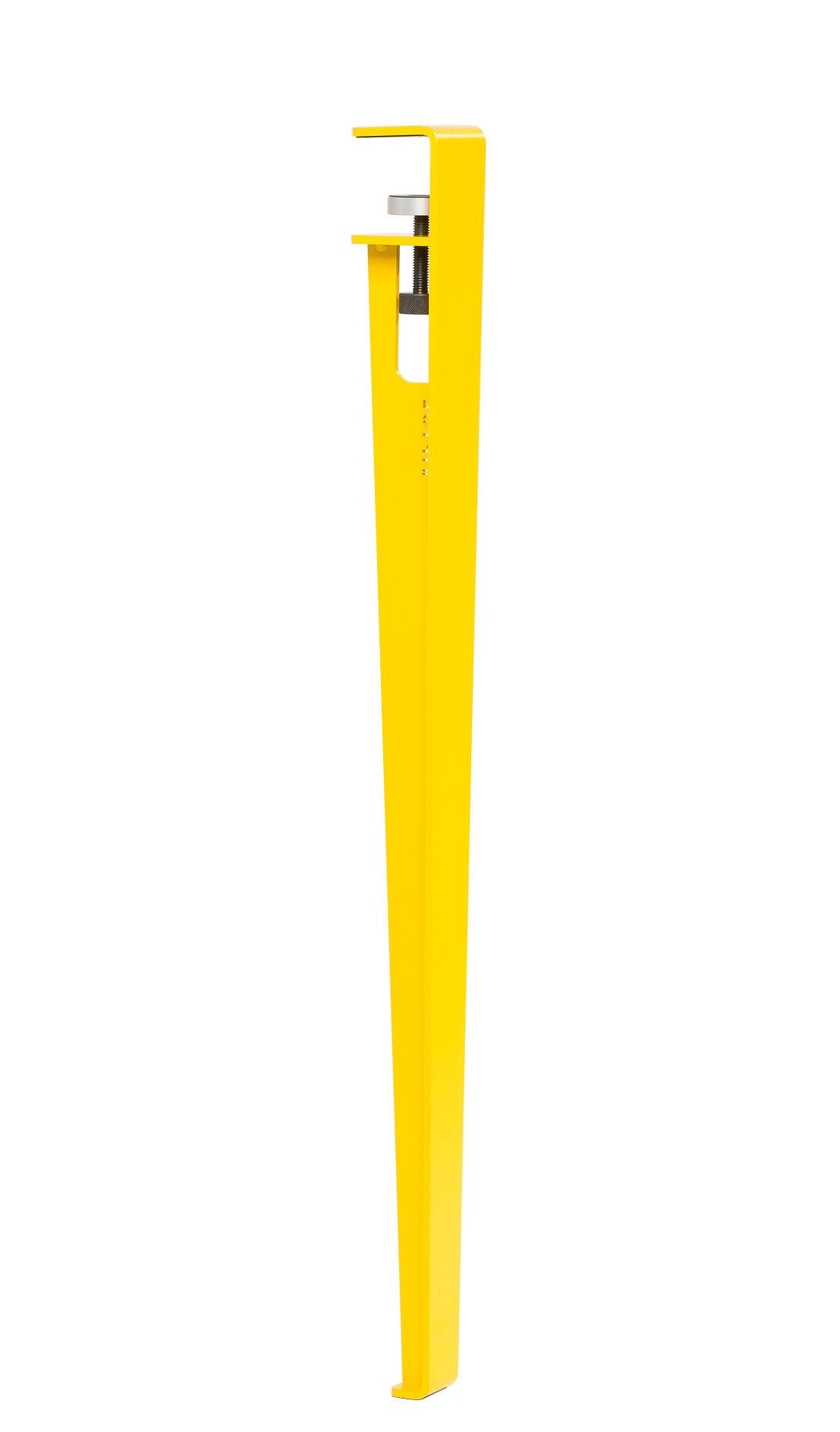 Arredamento - Mobili da ufficio - Gamba con fissaggio a morsetto / H 75 cm - Per tavolo & scrivania - TipToe - Giallo cobalto - Acciaio termolaccato