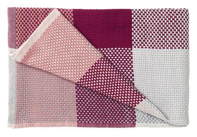 Plaid Loom / 130 x 180 cm - Muuto rouge,rouge clair en tissu