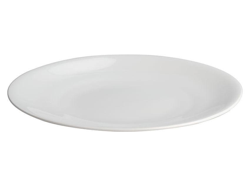 Arts de la table - Plats - Plat de service All-time Ø 32 cm - A di Alessi - Plat de service rond - Blanc - Porcelaine Bone China