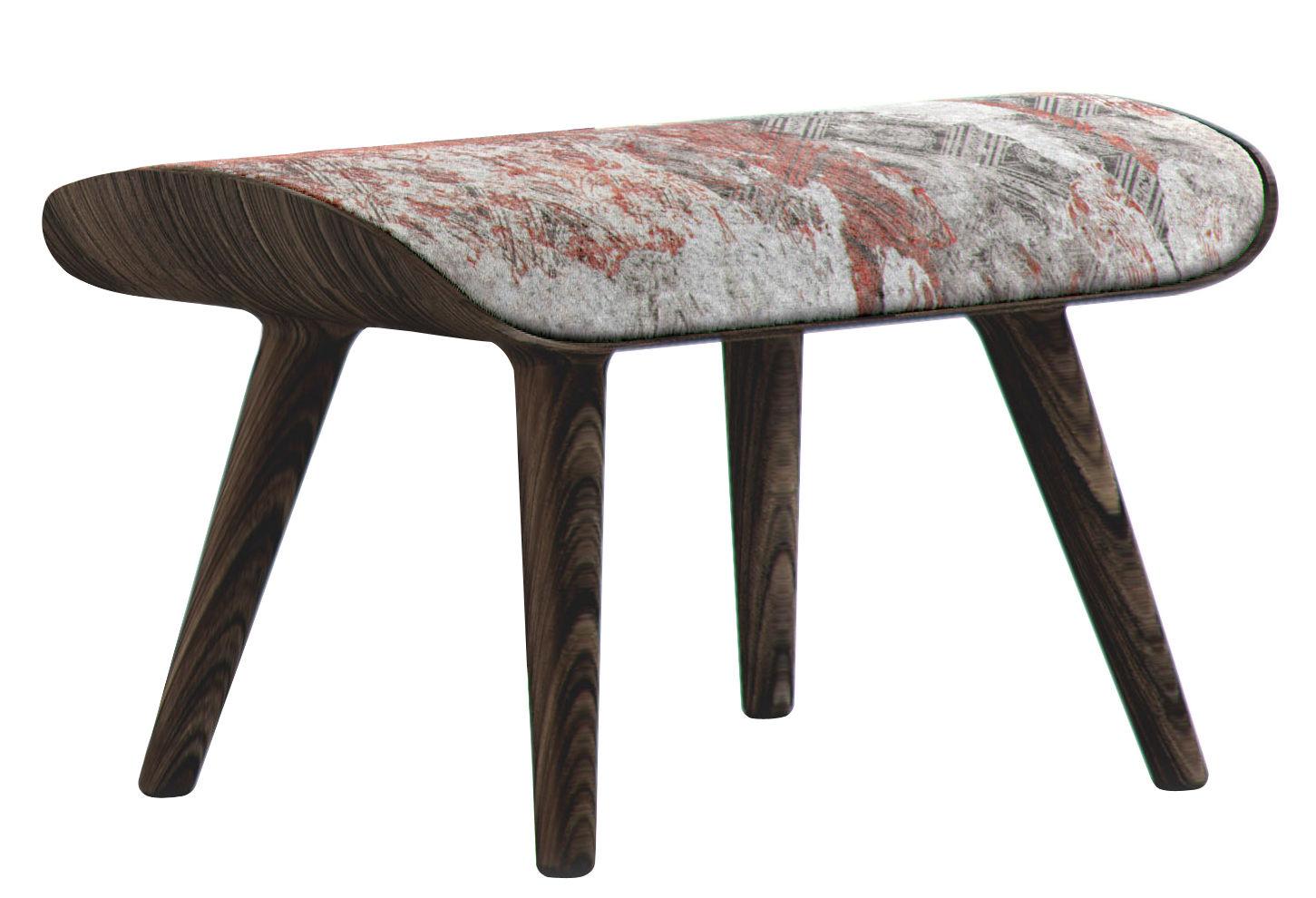 pouf nut repose pieds tons rouges structure bois cannelle moooi. Black Bedroom Furniture Sets. Home Design Ideas
