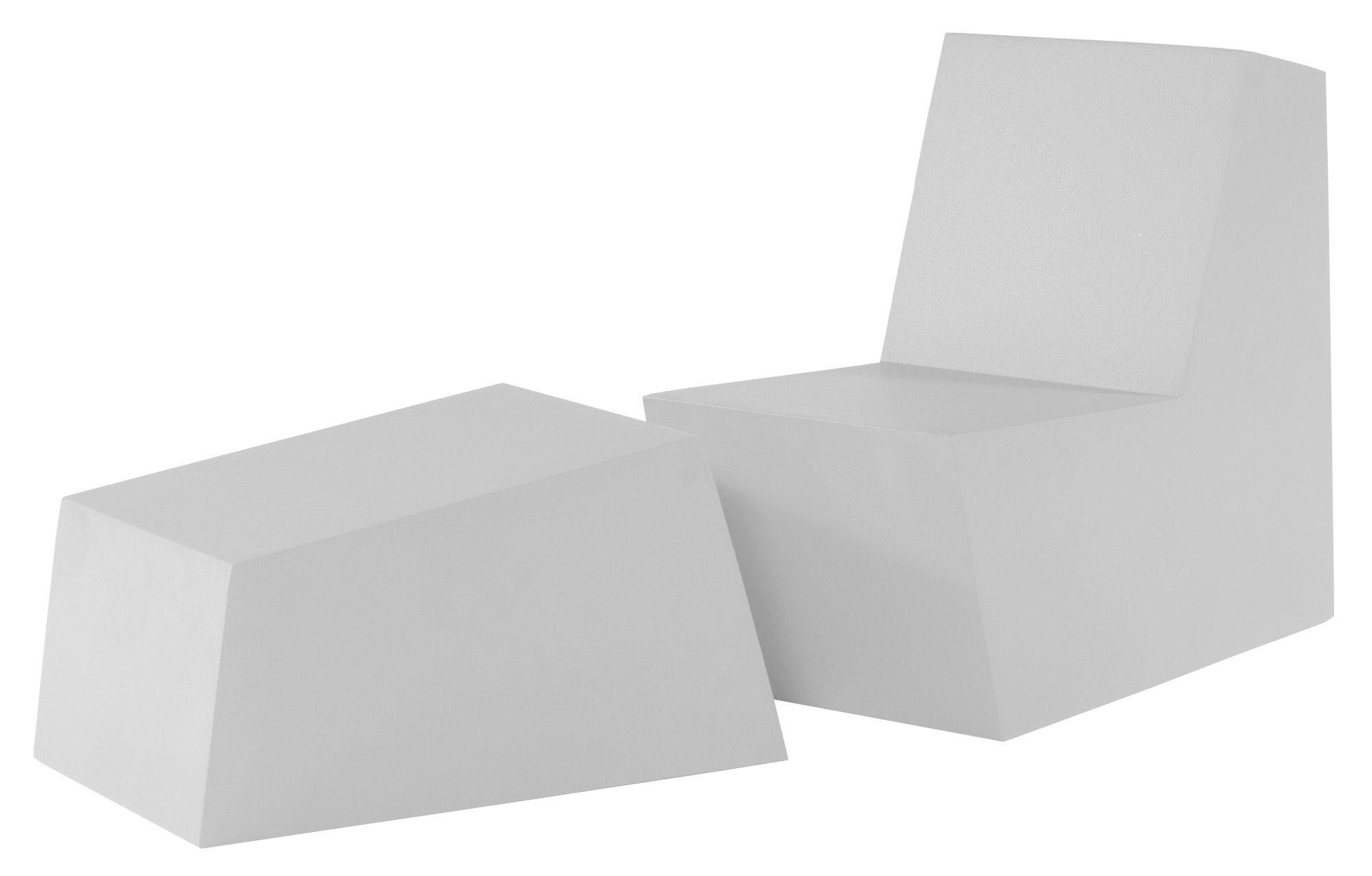 Arredamento - Mobili Ados  - Pouf Primary solo Ottoman di Quinze & Milan - Bianco - Schiuma di poliuretano