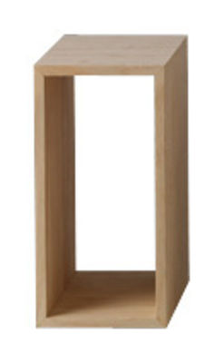 Furniture - Bookcases & Bookshelves - Stacked Shelf - Small rectangular unit by Muuto - L 43,6 cm x l 21,8 cm - Ash - MDF with ash finish