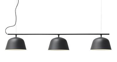 Illuminazione - Lampadari - Sospensione Ambit Rail - / L 126 cm di Muuto - Nero - Alluminio