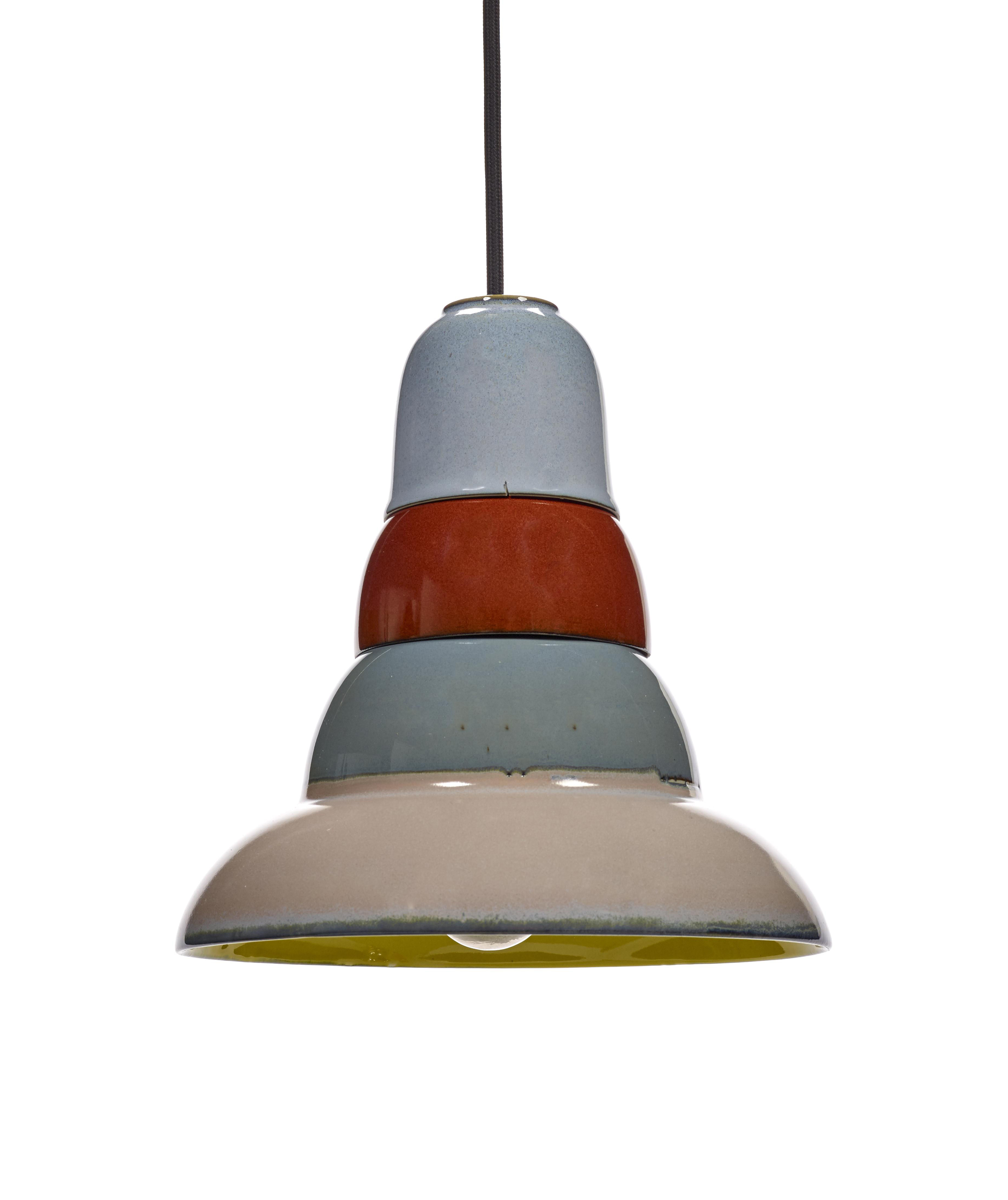 Illuminazione - Lampadari - Sospensione Anita n°4 - / Gres - Ø 22 cm di Serax - Multicolore - Gres smaltato