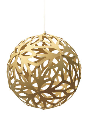 Illuminazione - Lampadari - Sospensione Floral - Ø 40 cm - Legno naturale di David Trubridge - Legno naturale - Ø 40 cm - Bambù