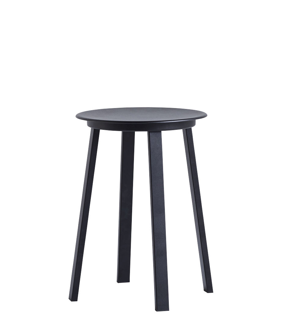 Furniture - Stools - Revolver Stool - pivotant / H 48 cm - Métal by Hay - Noir - Aluminium, Steel xith epowy paint