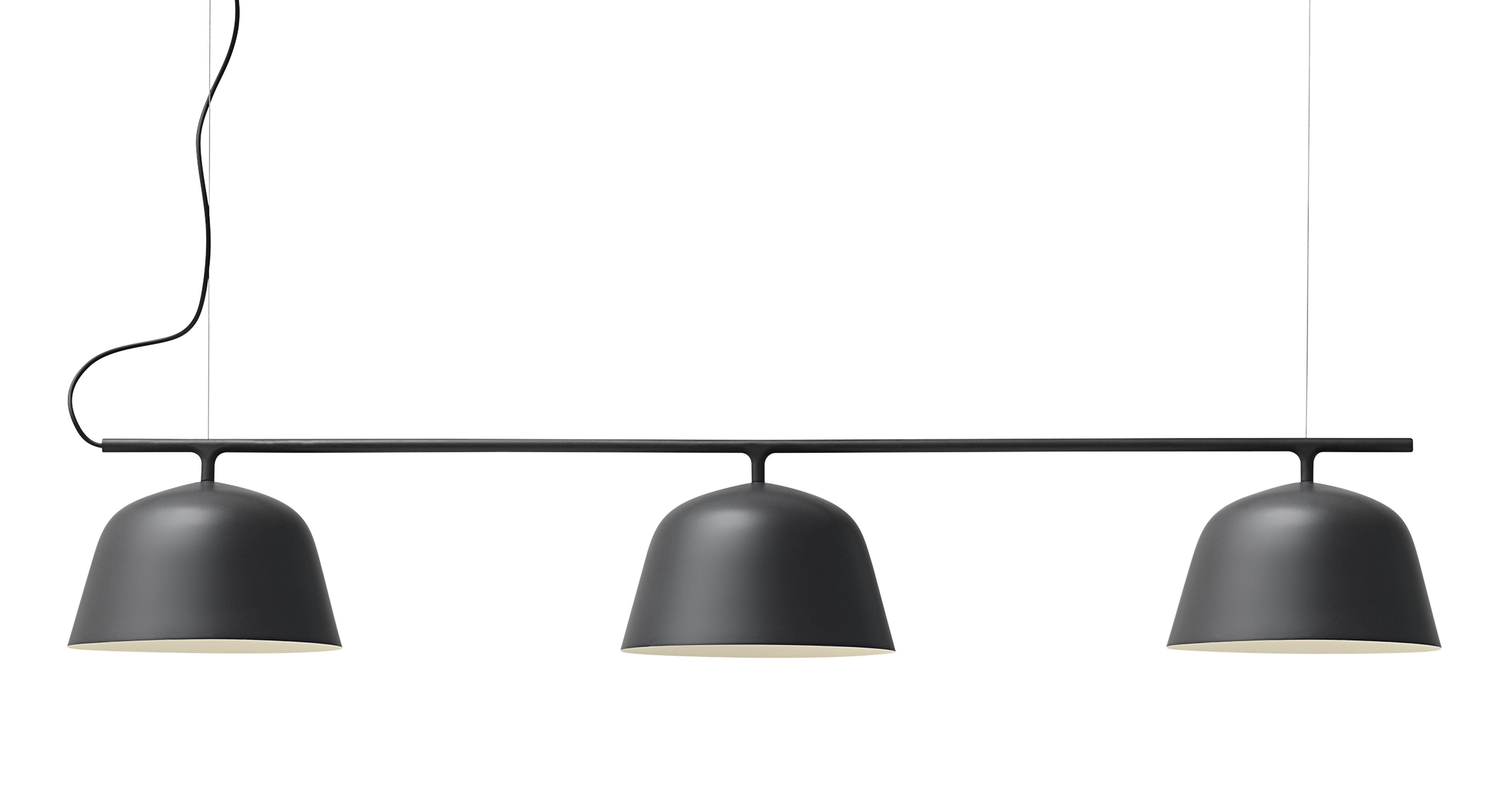 Luminaire - Suspensions - Suspension Ambit Rail / L 126 cm - Muuto - Noir - Aluminium