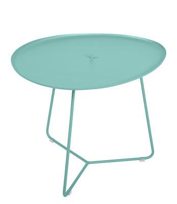 Table basse Cocotte / L 55 x H 43,5 cm - Plateau amovible - Fermob bleu lagune en métal