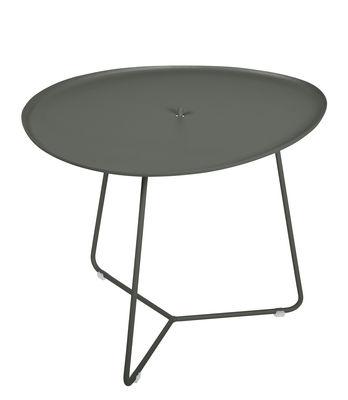 Table basse Cocotte / L 55 x H 43,5 cm - Plateau amovible - Fermob romarin en métal