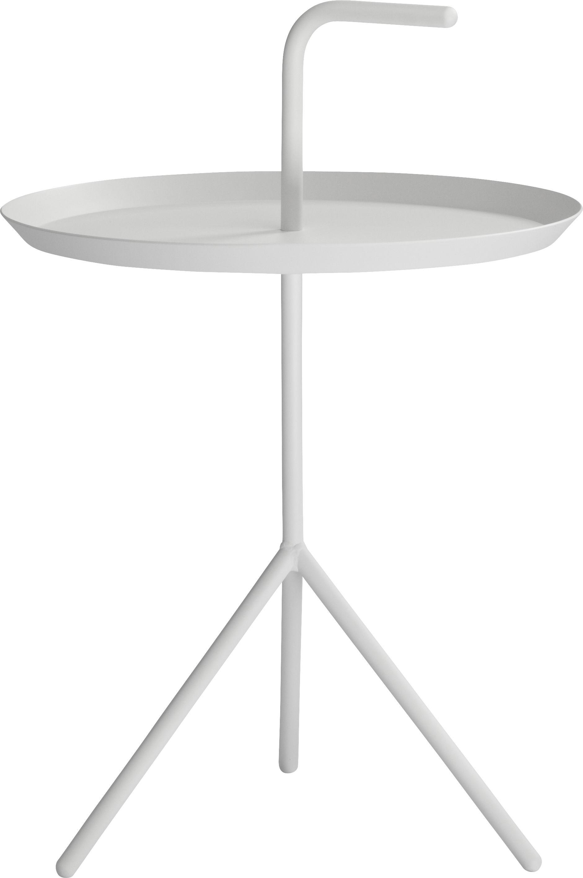 Mobilier - Tables basses - Table basse Don't leave Me XL / Ø 48 x H 65 cm - Hay - Blanc - Acier laqué