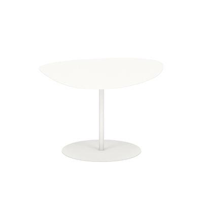 Table basse Galet n°2 OUTDOOR / 58 x 75 x H 39 cm - Matière Grise blanc en métal