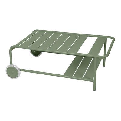 Mobilier - Tables basses - Table basse Luxembourg / Avec roues - 105 x 65 cm - Fermob - Cactus - Aluminium