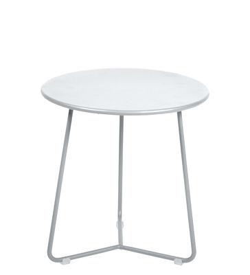 Mobilier - Tables basses - Table d'appoint Cocotte / Tabouret - Ø 34 x H 36 cm - Fermob - Blanc coton - Acier peint