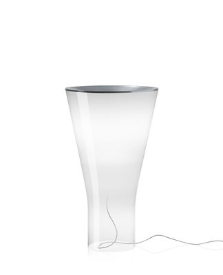 Lighting - Table Lamps - Soffio LED Table lamp - / Glass - H 50 cm by Foscarini - White / Transparent - Aluminium, Mouth blown glass