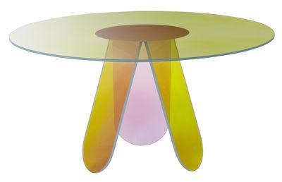 Table Shimmer / Verre - Ø 95 cm - Glas Italia multicolore en verre