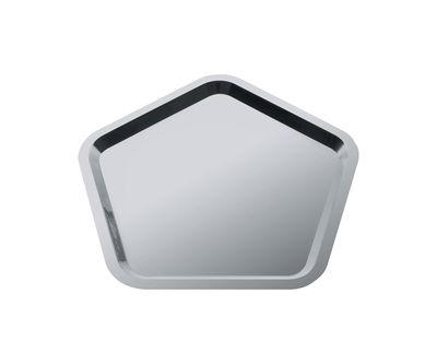 Tischkultur - Tabletts und Servierplatten - Territoire intime Tablett / 36 x 35 cm - Alessi - Edelstahl, poliert - Rostfreier Stahl 18/10