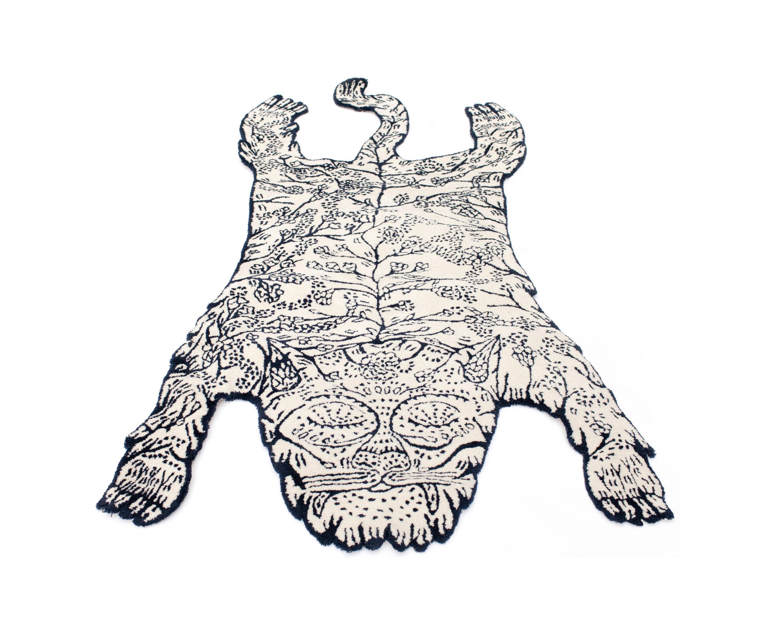 Interni - Tappeti - Tappeto Tiger - Small / 180 x 80 cm di Moustache - 180 x 80 cm / Nero & bianco - Lana