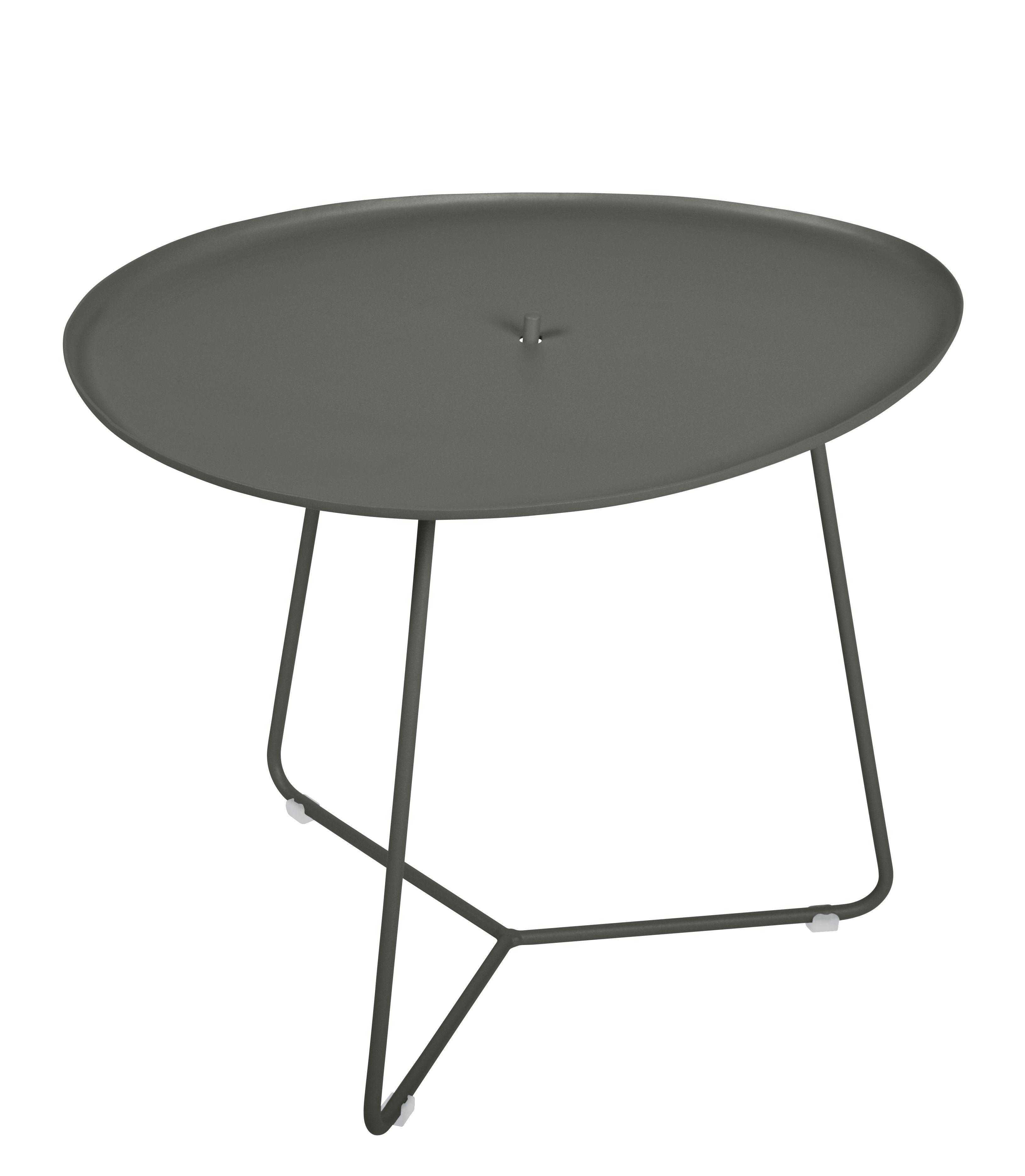 Arredamento - Tavolini  - Tavolino Cocotte - / L 55 x H 43,5 cm - Piano rimovibile di Fermob - Rosmarino - Acciaio verniciato