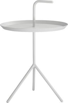 Arredamento - Tavolini  - Tavolino Don't leave Me XL - / Ø 48 x H 49 cm di Hay - Bianco - Acciaio laccato