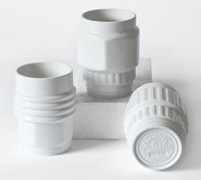 Tavola - Tazze e Boccali - Tazza Machine Collection - / Set da 3 di Diesel living with Seletti - Bianco - Porcellana