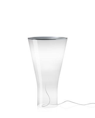 Soffio LED Tischleuchte / Glas - H 50 cm - Foscarini - Weiß,Transparent