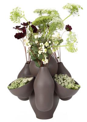 Déco - Vases - Vase Allpa / Ø 40 x H 40 cm - Céramique fait main - Moustache - Gris - Céramique émaillée