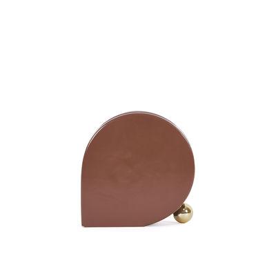 Decoration - Vases - Eos Small Vase - / L 16 x H 17 cm - Hand-painted ceramic by ENOstudio - Burgundy (matt) - Ceramic