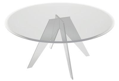 Mobilier - Tables - Table ronde Alister / Ø 130 cm - Glas Italia - Ø 130 cm - Transparent - Verre