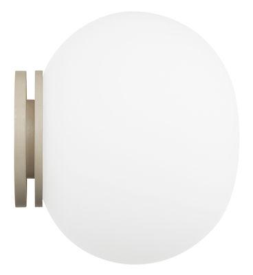 Applique Glo-Ball / Plafonnier - Ø 19 cm - Flos blanc en verre