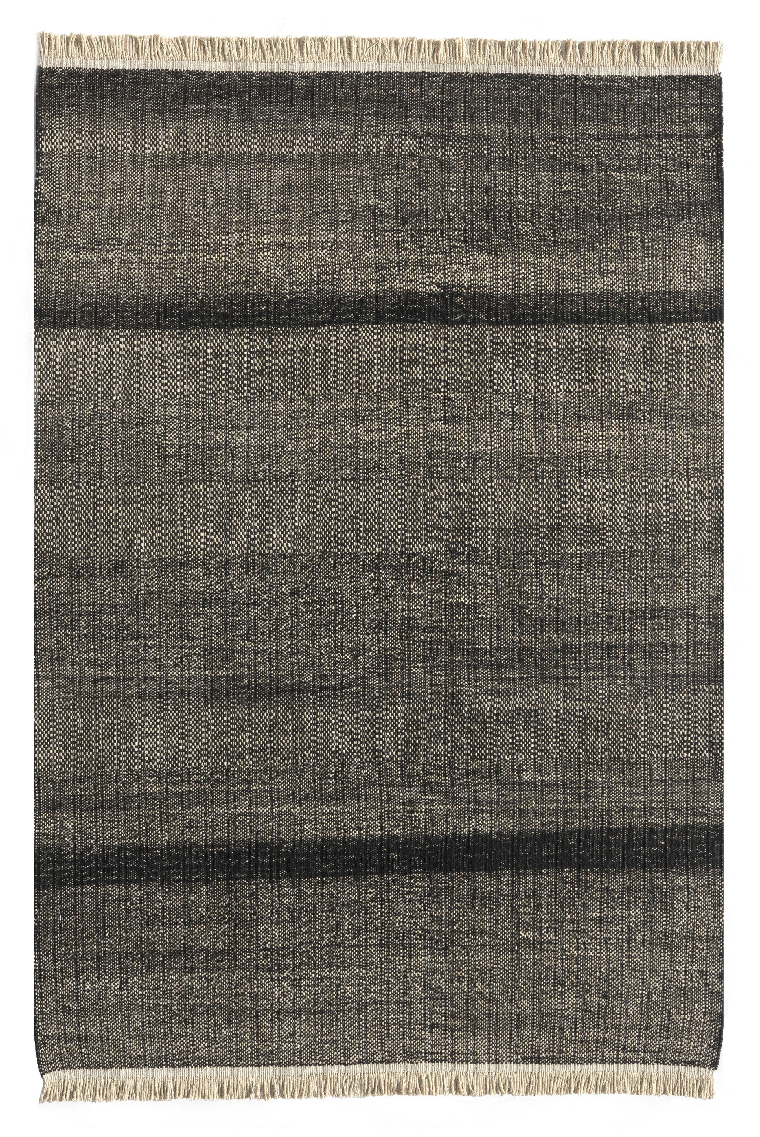 Dekoration - Teppiche - Tres Außenteppich / 200 x 300 cm - Nanimarquina - Schwarz - Polyäthylen