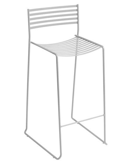 Furniture - Bar Stools - Aero Bar chair - Metal - H 64 cm by Emu - Aluminium - Lacquered steel