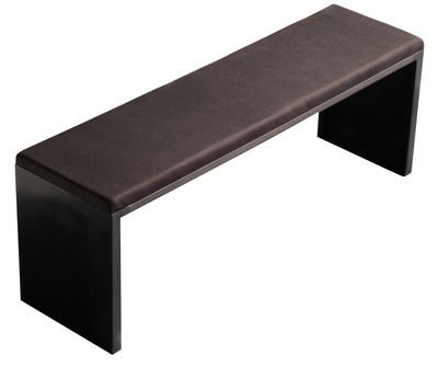Furniture - Benches - Irony Pad Bench by Zeus - 130 x 36 cm - Leather, Phosphated steel