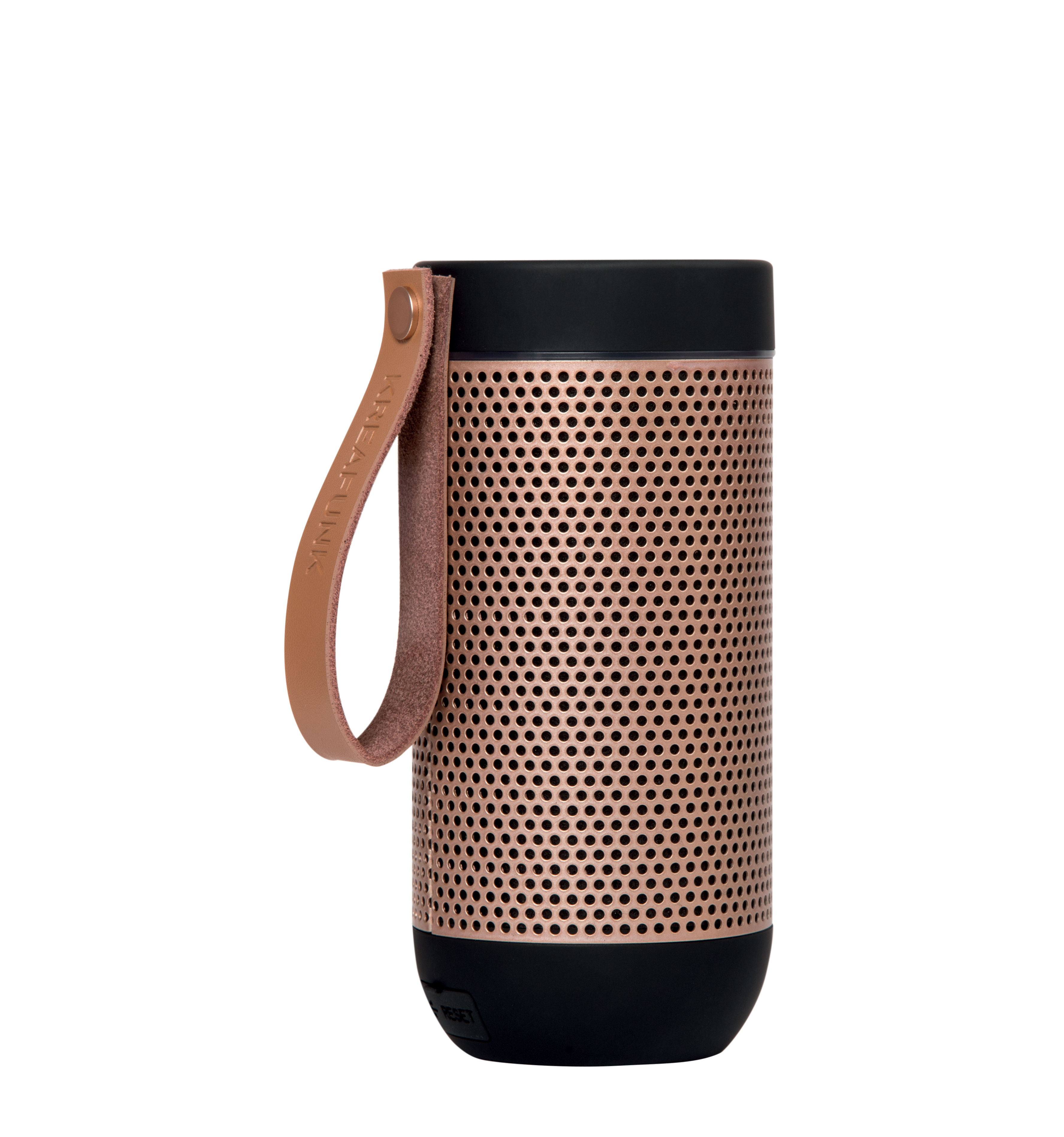 Accessories - Speakers & Audio - aFUNK Bluetooth speaker - / Portable - Wireless by Kreafunk - Black /  Rose gold - Aluminium, Leather, Plastic material