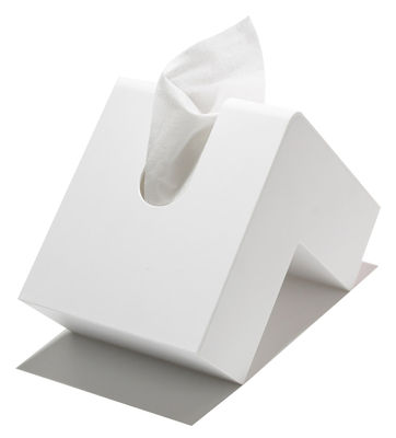 Déco - Salle de bains - Boîte à mouchoirs Folio - Pa Design - Blanc - Plastique