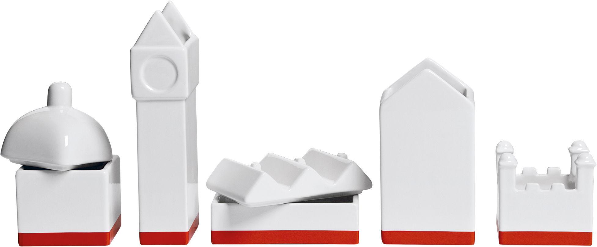 Déco - Accessoires bureau - Boîte La City / Set boîtes pour bureau - L 33 cm - Seletti - Blanc - Porcelaine