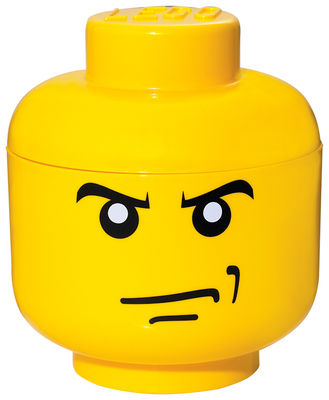 Decoration - Children's Home Accessories - Lego® Head Angry Box - Small by ROOM COPENHAGEN - Angry boy / Yellow - Polypropylene