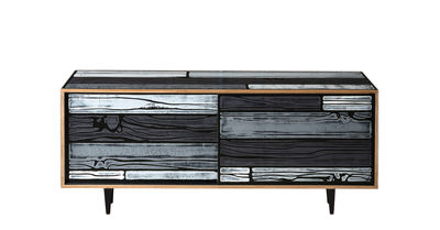 Buffet Wrongwoods / L 150 cm - Established & Sons gris en bois