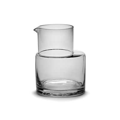 Tableware - Water Carafes & Wine Decanters - Inner Circle Carafe - / 75 cl - Glass by valerie objects - 75 cl / Smoked grey - Glass