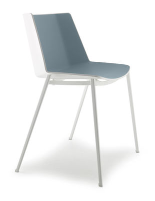 Empilable Mdf Chaise Italia In Design Aïku BlancbleuMade CeBordWx