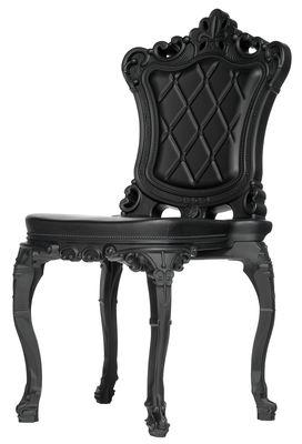 Chaise Princess of Love /Polyéthylène - Design of Love by Slide noir en matière plastique